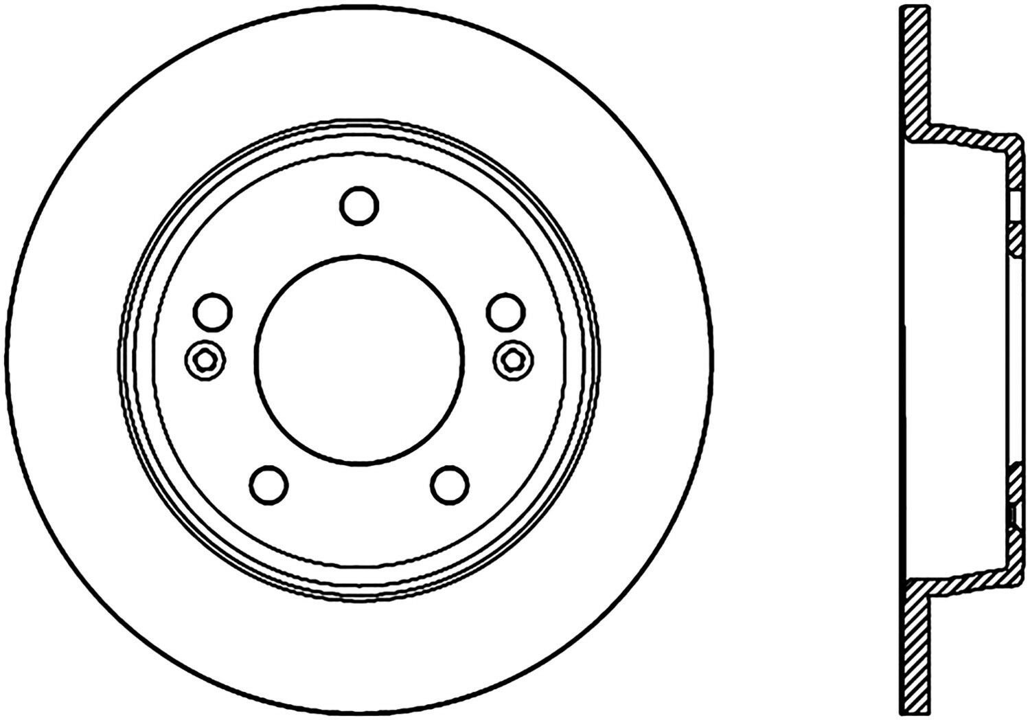 Centric Disc Brake Rotor-C-TEK Rear For 11-19 Hyundai