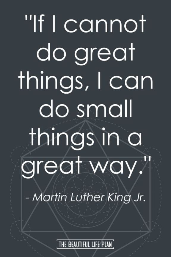 If I cannot do great things, I can do small things in a great way.Growth Mindset Quotes