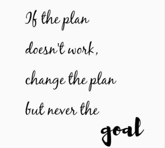 If the plane doesn't work, change the plane but never the goal.Growth Mindset Quotes