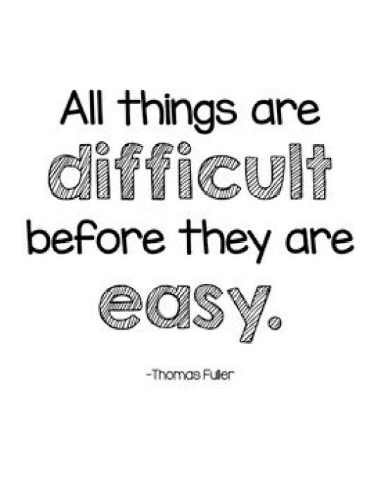 All things are difficult before they are easy.Growth Mindset Quotes
