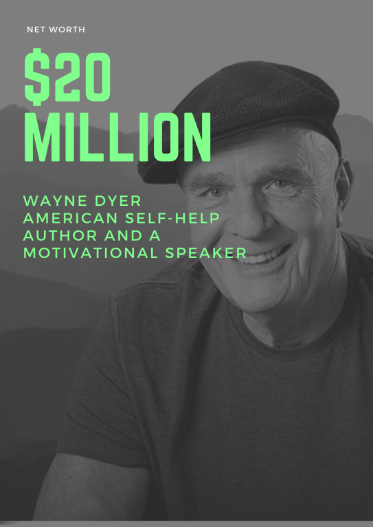 $20 Million - Net Worth of Wayne Dyer an american self-help author