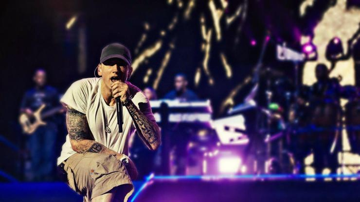 Eminem Performing on Stage