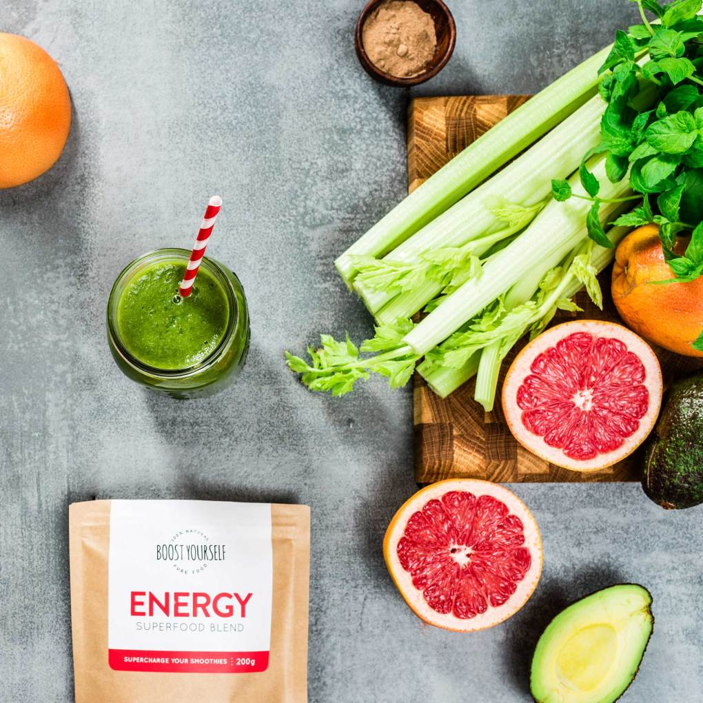 Energy smoothie with maca and baobab