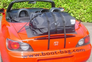 jaguar f type convertible luggage rack attached to boot