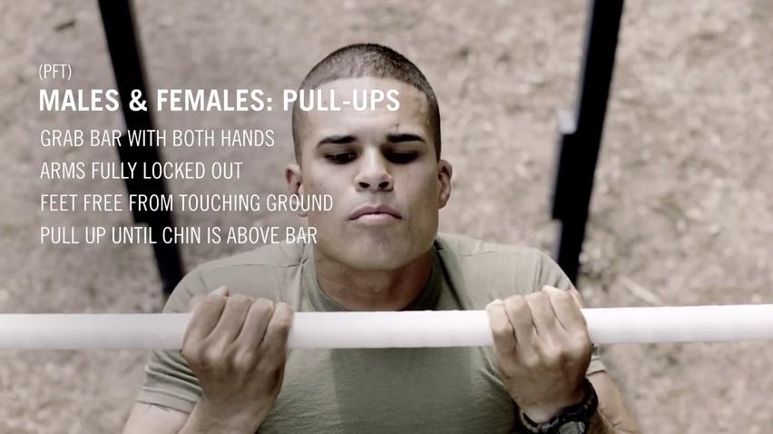 Marine Pull UpFlexed Arm Hang BootCamp4Me