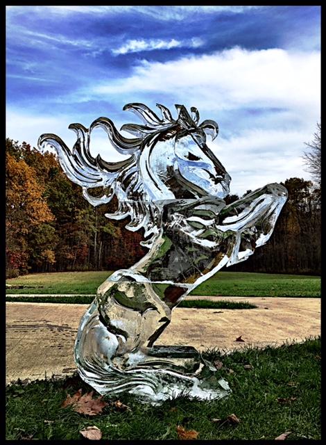 Horse Ice Sculpture