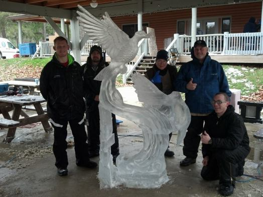 Boot Camp Ice Carving
