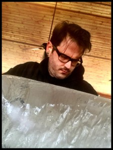 Ice Carving Student