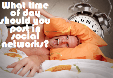 What time of day should you post in social networks?