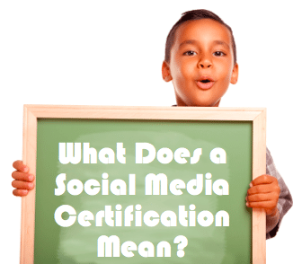 What does a social media certification mean