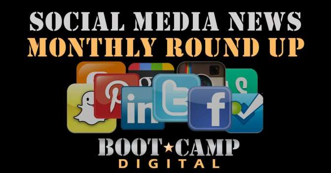 Social media news monthly round up