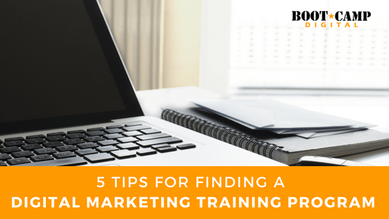 5 Tips for Finding a Digital Marketing Training Program