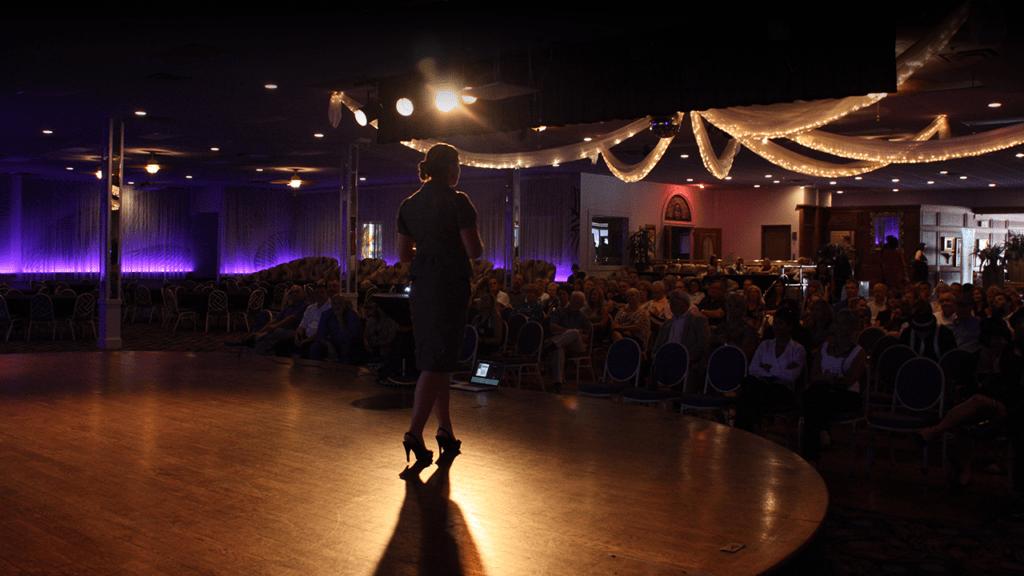 digital marketing and social media speaker on stage