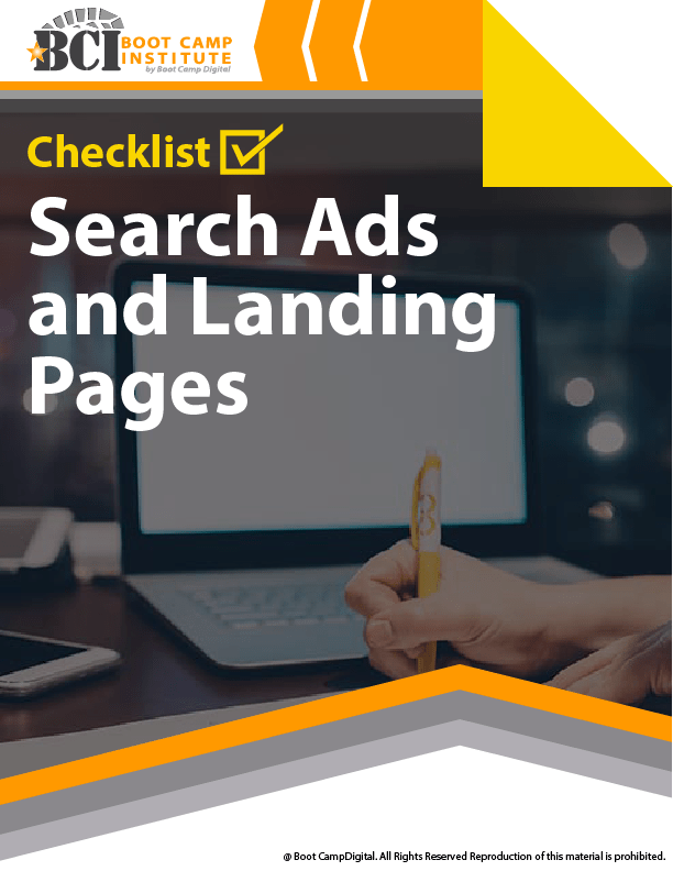 Checklist Search Ads and Landing Pages
