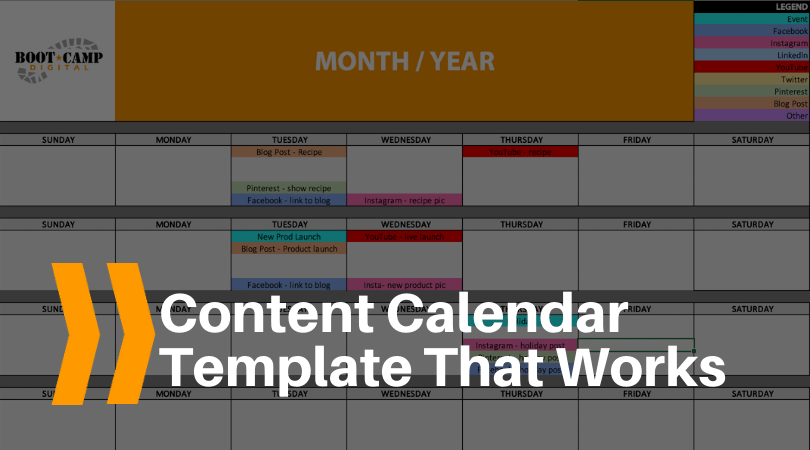 content calendar template that works