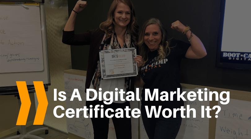 Is a digital marketing certificate worth it?