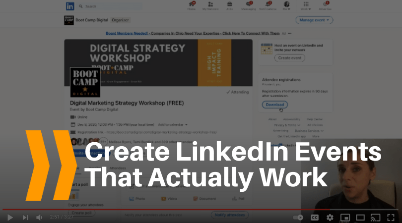 Create linkedin events that actually work