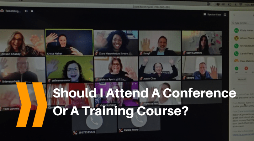 attend a conference