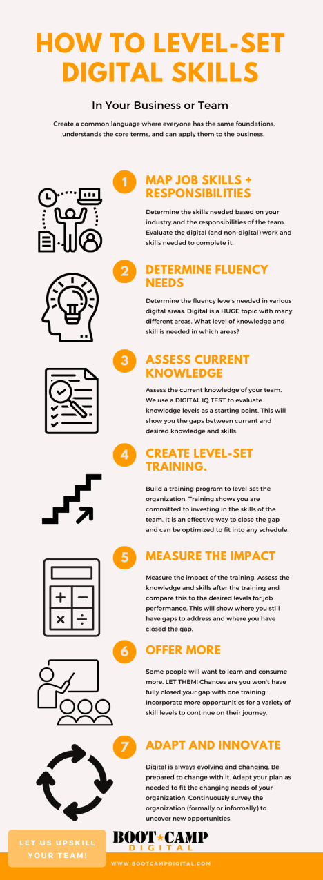 How to level set digital skills infographic