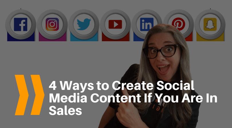 create social media content sales