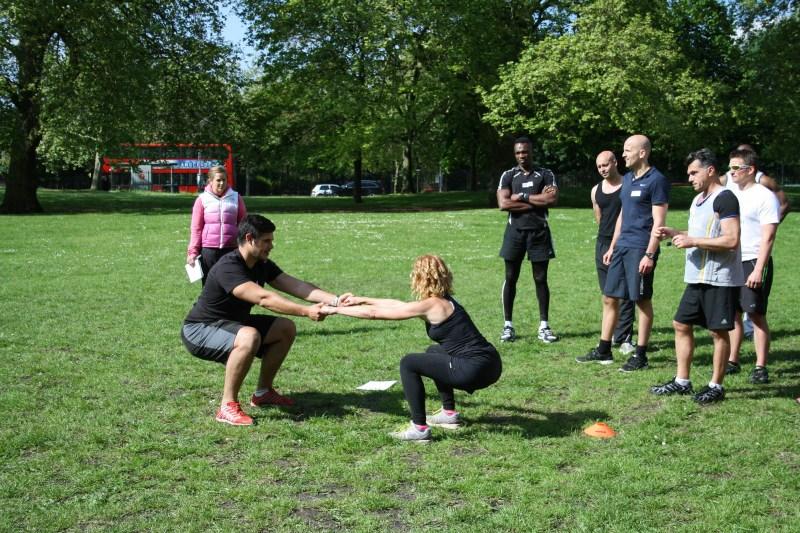 partner squats