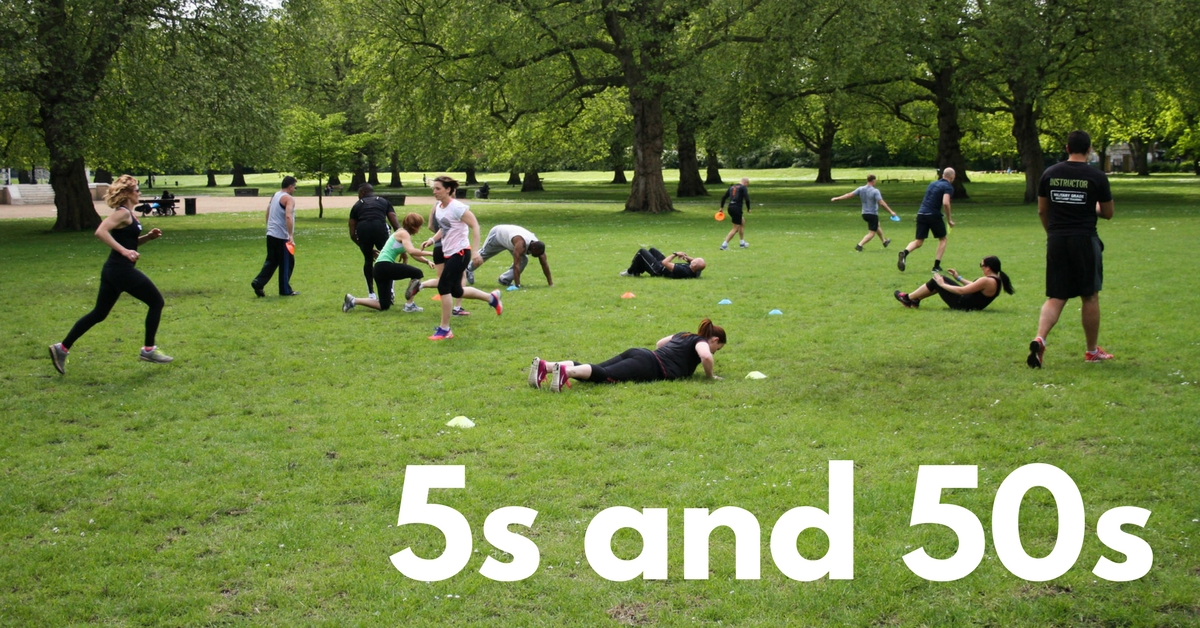 The 5s and 50s Bootcamp Workout