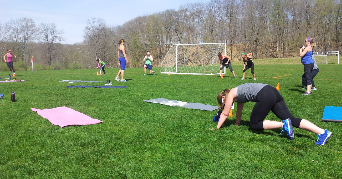 setting up a fitness boot camp