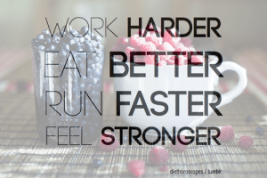 Work, Eat, Run, Feel