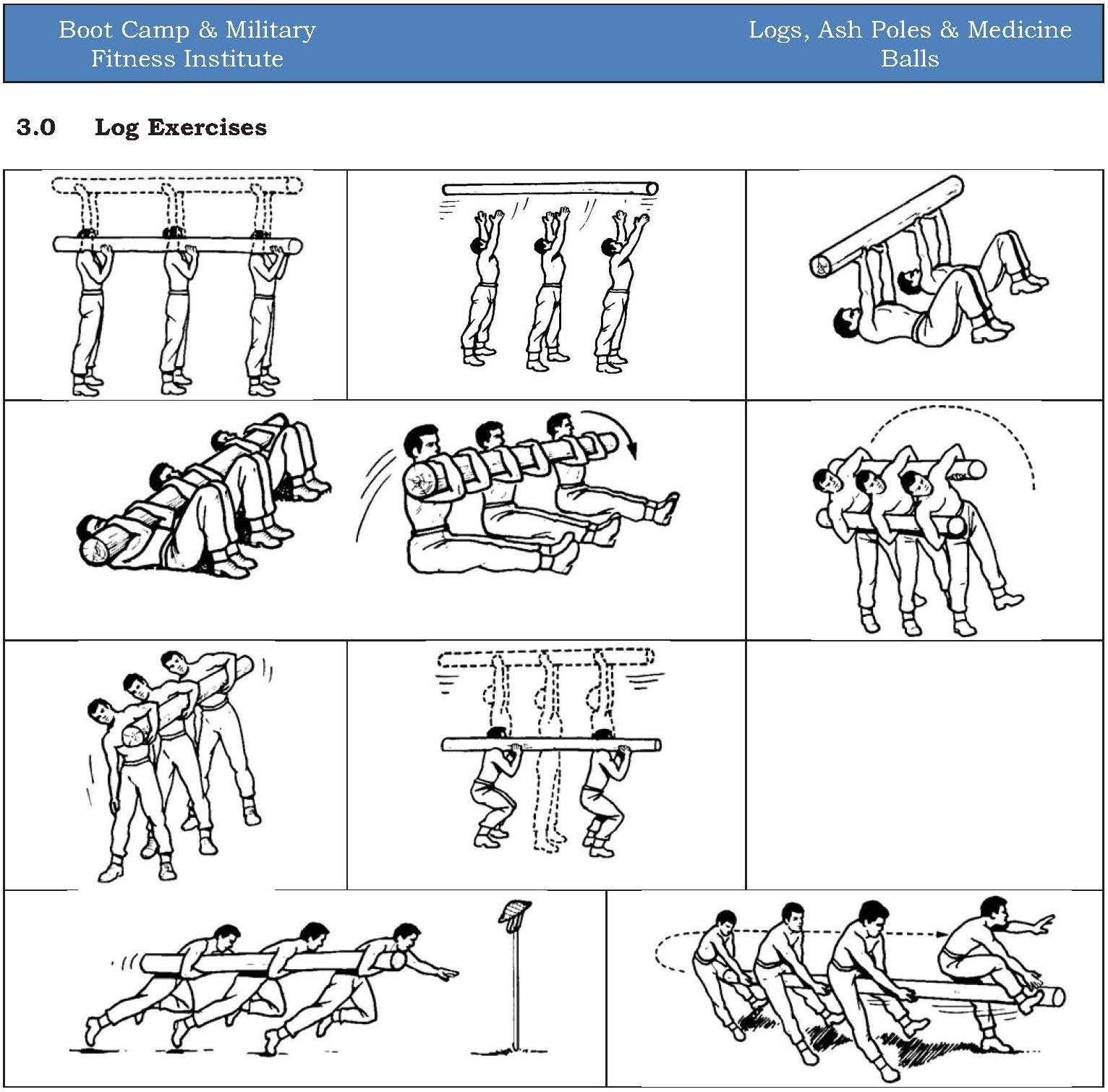 Logs, Ash Poles & Medicine Balls – Boot Camp & Military Fitness