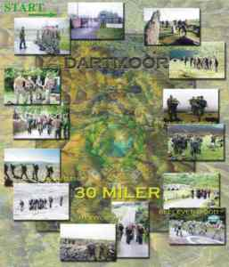 Royal Marines 30-miler Route Map