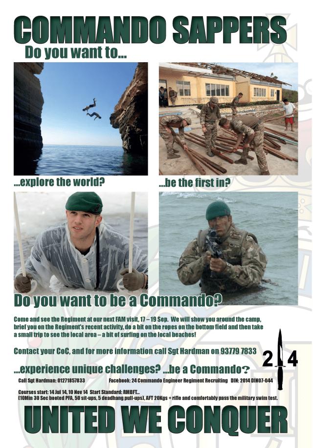 Commando Sappers Recruitment Campaign