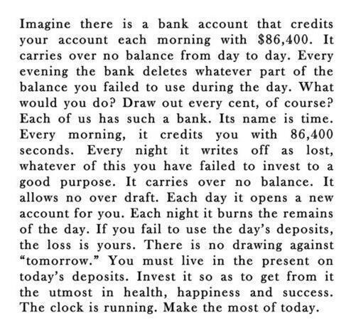 Motivation, as bank Account