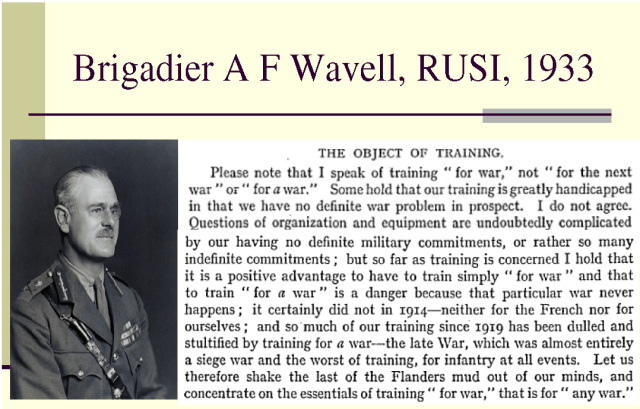Object of Training, The (Wavell, 1933)