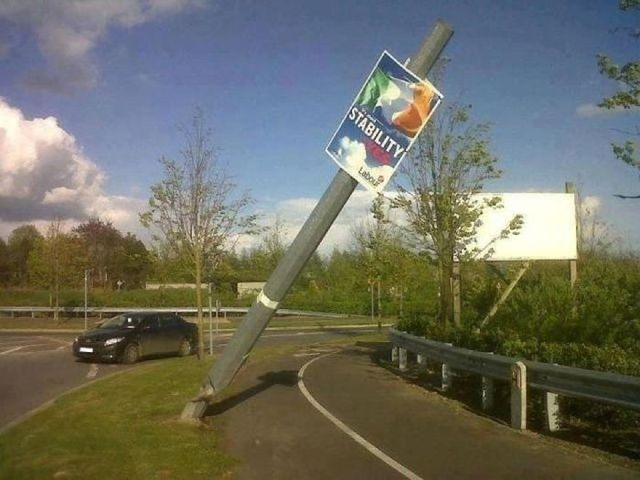 Irony, Road Sign