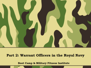 01 - Part 02, WOs in the Royal Navy