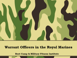Part 03, WOs in the Royal Marines