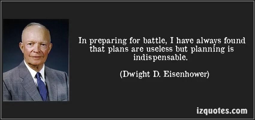 Plans, Dwight D Eisenhower