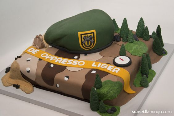 US Army Special Forces, Green Beret, Cake