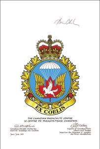 Approval of the Canadian Parachute Centre