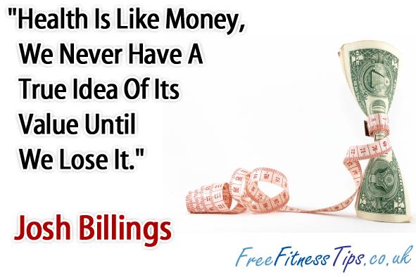 Health is Like Money...