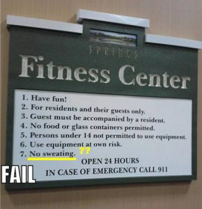 No Sweating in Fitness Centre