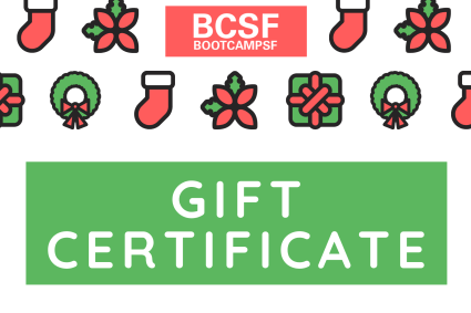 Boot Camp Gift Certificate