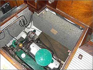 Schallisolierung im Maschinenraum der Xenia