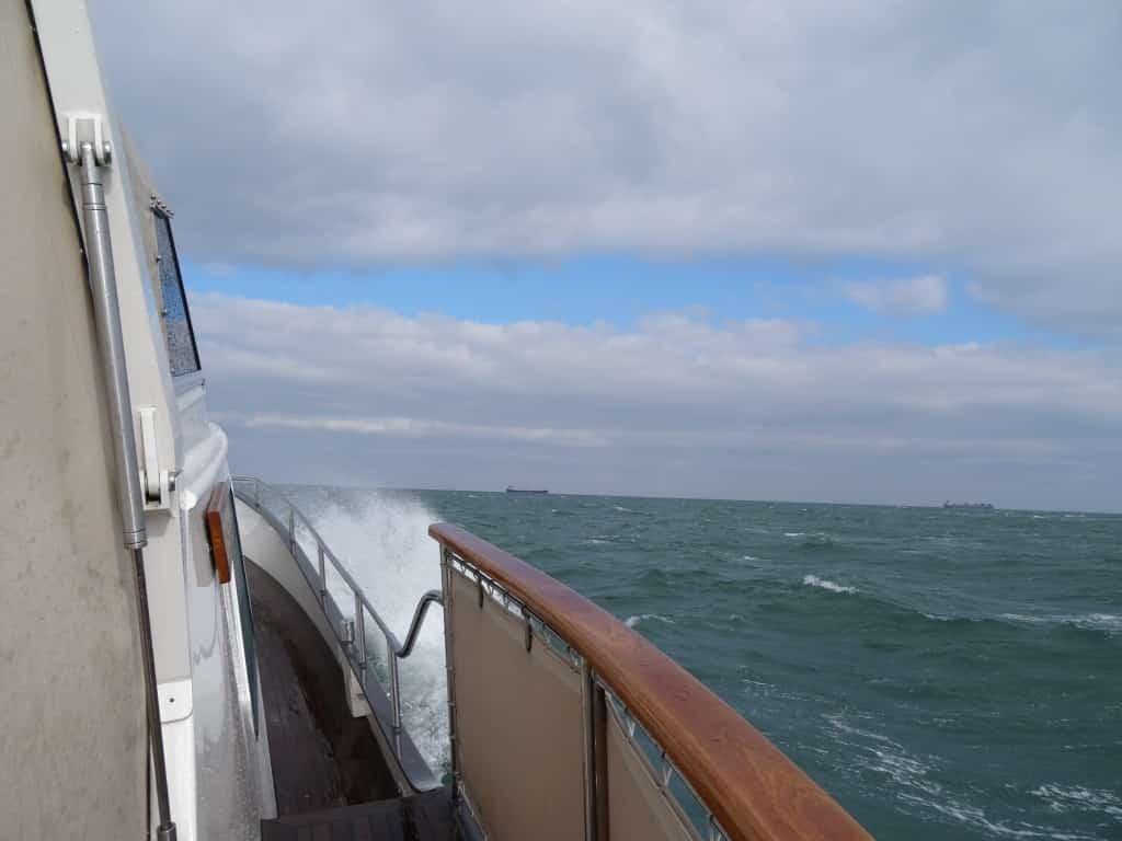 Bei Wind 6-7 auf der Nordsee