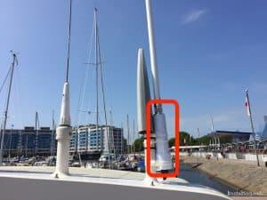 Der Ubiquiti Bullet M2 für Internet auf dem Boot