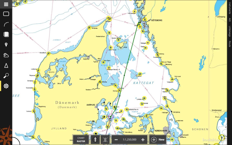 Ein langer Schlag: von Hönö direkt nach Samsø.