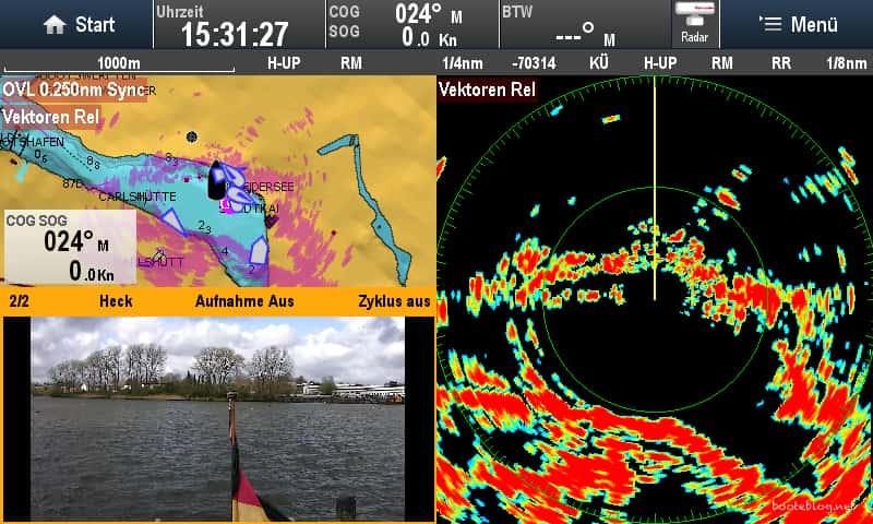 Radar, Karte mit Radar-Overlay, dazu eine Rückfahrkamera - mit einem modernen System kein Problem.
