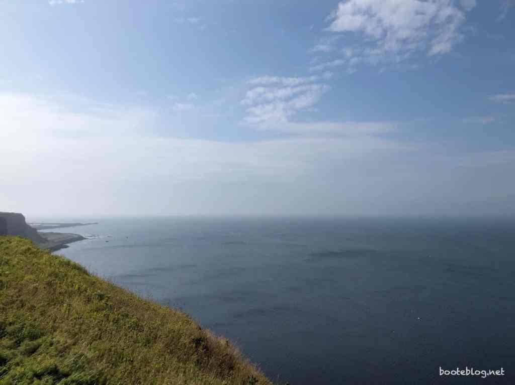 Sie sieht so ruhig aus, so unschuldig, von hier oben: Die Nordsee.