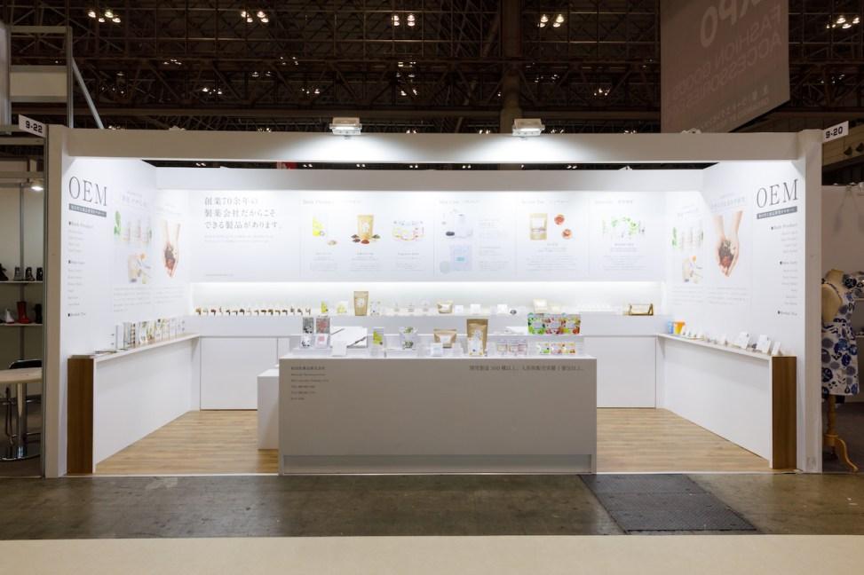 国際化粧品展・OEMブース・展示会ブースデザイン装飾