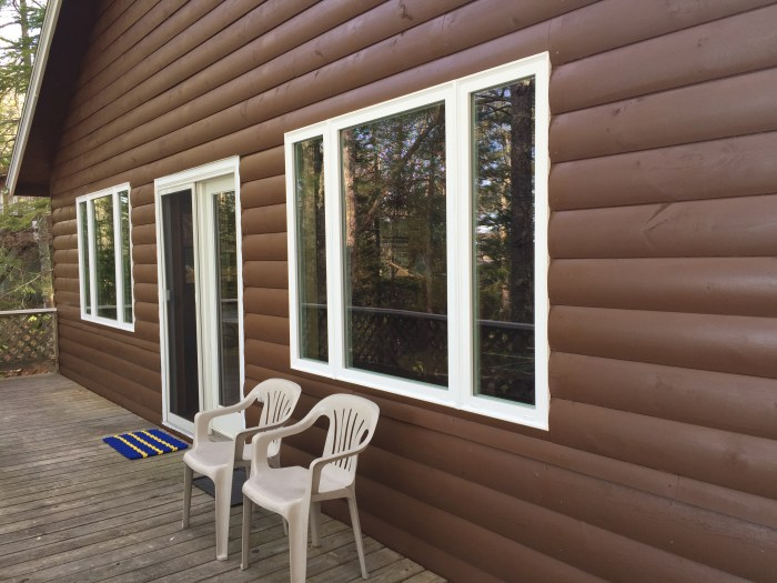 New windows and refinished siding